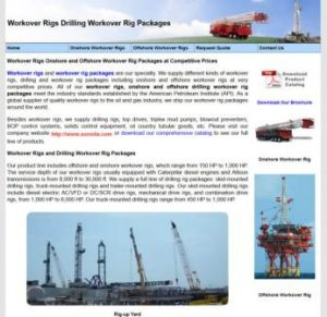 Work OVer Rigs and Drilling Workover Rig, Houston TX